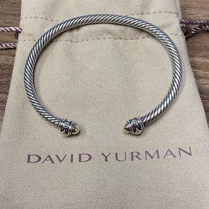 David Yurman 4mm Renaissance Cuff 14k gold